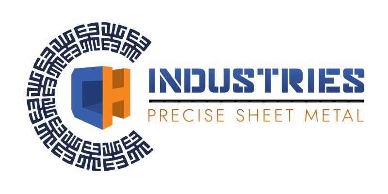 CH Industries Precision Sheet Metal Blue and Orange Logo